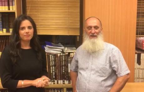 """הרב אורי שרקי במפגש עם יו״ר ימינה איילת שקד: ״ימינה- הנציג האמיתי של הרוח הישראלית"""""""
