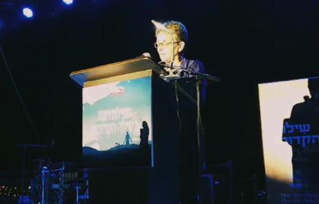 """לאה גולדין באירוע בשילה הקדומה: """"הדר, לא ננוח ולא נשקוט עד שתגיע לקבר ישראל"""""""