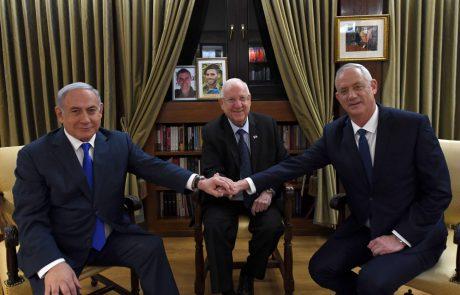 מפגש פסגה: נשיא המדינה בפגישה עם בנימין נתניהו ובני גנץ