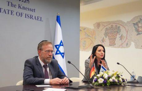 """בראש קבוצת הידידות עם ישראל-גרמניה:ח""""כ חרדי וח""""כית דרוזית"""